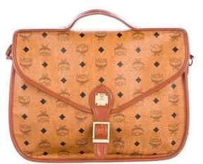 MCM Visetos Flap Messenger Bag