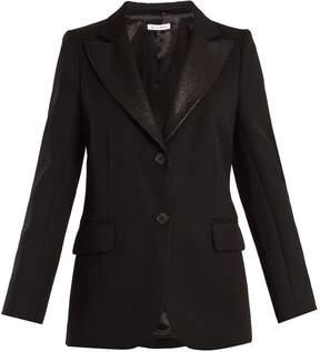Bella Freud Isaacs contrast-lapel wool-blend blazer