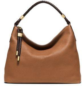 Michael Kors Collection Skorpios Leather Hobo Bag