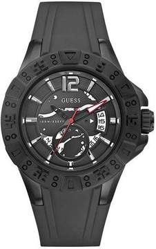 GUESS Black Silicone Mens Watch W0034G3