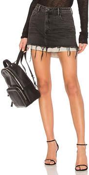 Alexander Wang DENIM x Hi Rise Shirttail Skirt.