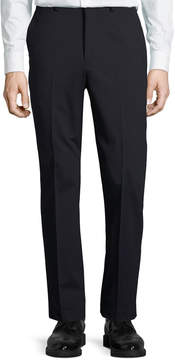 DKNY Wool-Blend Straight-Leg Trousers, Navy