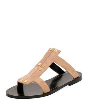 Tom Ford Studded Suede Flat Caged Sandal