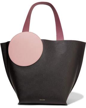 Roksanda Eider Color-block Textured-leather Tote - Black