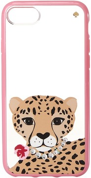 Kate Spade Jeweled Cheetah Phone Case for iPhone 7/iPhone 8 Cell Phone Case