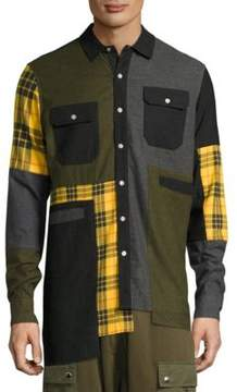 Mostly Heard Rarely Seen Uneven Button-Down Shirt