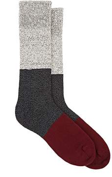 Corgi Men's Colorblocked Cotton Mid-Calf Socks
