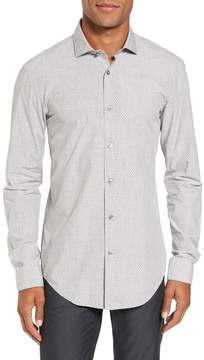 BOSS Men's Ridley Slim Fit Micro Diamond Sport Shirt