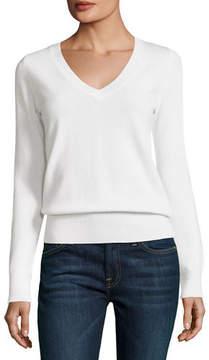 Neiman Marcus Classic Cashmere V-Neck Sweater