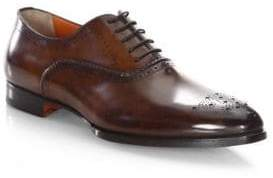 Santoni Hand-Stitched Leather Oxfords