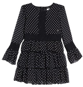 Bebe Girl's Lace Trim Print Dress