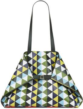 Akris Ai Geometric Medium Shoulder Bag