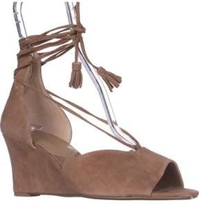 Adrienne Vittadini Marcey Wedge Sandals, Almond.