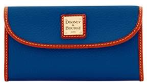Dooney & Bourke Pebble Grain Continental Clutch Wallet - OCEAN - STYLE