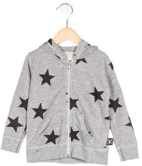Nununu Boys' Hooded Printed Jacket