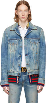 Gucci Blue Denim Cemetery Forever Punk Jacket