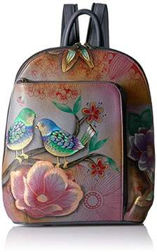 Anuschka Hand Painted Sling Over Travel Backpack