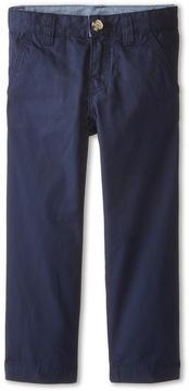 Lacoste Kids - Cotton Gabardine Flat Front Chino Boy's Casual Pants