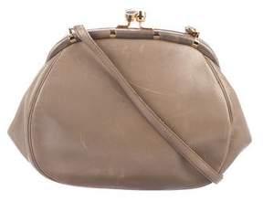 Judith Leiber Leather Kiss-Lock Shoulder Bag
