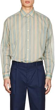 TOMORROWLAND Men's Striped Cotton Voile Shirt