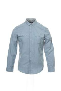 Calvin Klein Jeans Blue Herringbone Button Down Shirt Sport