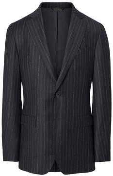 Banana Republic Slim Heritage Navy Pinstripe Italian Wool Suit Jacket