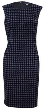 Tommy Hilfiger Women's Flocked Houndstooth Sheath Dress
