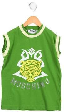 Moschino Boys' Sleeveless Graphic Shirt