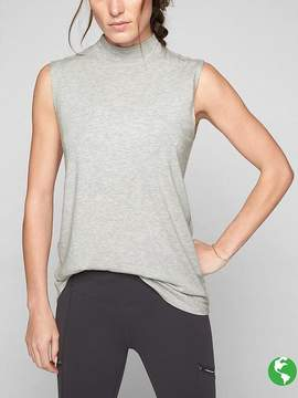 Athleta Threadlight Relaxed Mock Neck Tank