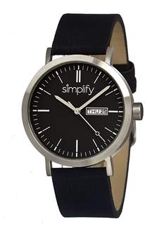 Simplify The 100 Leather-band Watch.