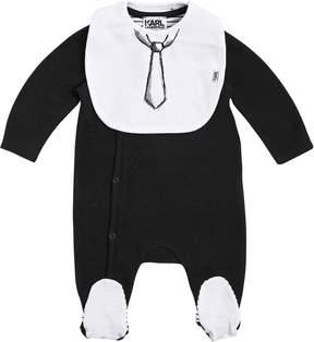 Karl Lagerfeld Cotton Jersey Romper & Bib