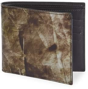 Maison Margiela Men's Printed Leather Bi-Fold Wallet