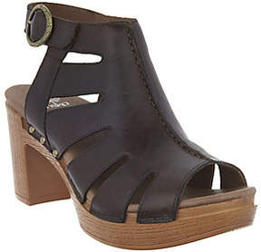 Dansko Leather Cut-out Sandals - Demetra