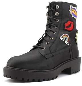 Coolway Drac Women Round Toe Synthetic Combat Boot.