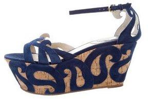 Etro Suede Wedge Sandals