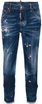 DSQUARED2 paint splattered jeans