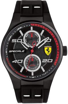 Ferrari Men's Speciale Black Silicone Strap Watch 44mm 0830356
