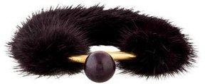 Celine Mink Fur Bracelet