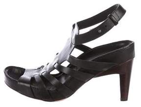 CNC Costume National Leather Caged Sandals