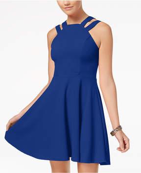 B. Darlin B Darlin' Juniors' Double-Strap Fit & Flare Dress
