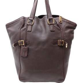 Saint Laurent Downtown leather handbag - BROWN - STYLE