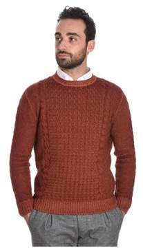 H953 Men's Orange Wool Sweater.
