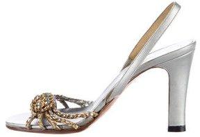 Chanel Chain Slingback Sandals