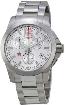 Longines Sport Conquest Silver Dial Stainless Steel Men's Watch L37004766