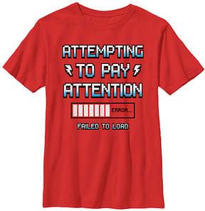Fifth Sun Red 'Attempting To Pay Attention' Tee - Boys