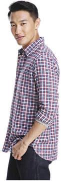 Joe Fresh Men's Long Sleeve Plaid Flannel Shirt, Denim Blue (Size XXL)