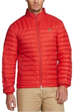 Lacoste Mens Packable Puffer Jacket Red 3XL