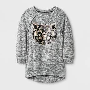 Miss Chievous Girls' 3/4 Sleeve Sweatshirt - Black