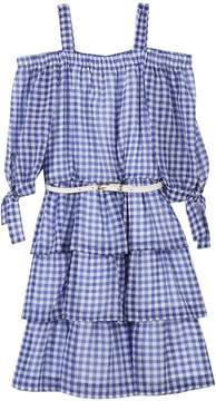 Speechless Girls 7-16 Gingham Belted Dress