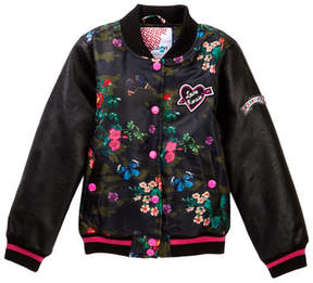 KensieGirl Varsity Jacket with Patches (Big Girls)